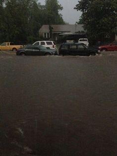 Flood waters cover a yard in SW Oklahoma City. #okcfox pic.twitter.com/k0daRAQMh0  5/31/2013