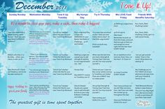 December 2011 Tone It Up Calendar Monthly Workout Plans, Workout Schedule, Monthly Workouts, Getting Back In Shape, Get In Shape, Workout Calendar, Fitness Calendar, How To Stay Healthy, Healthy Life