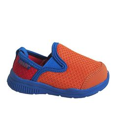 Loving this Orange & Royal Blue Slip-On Sneaker - Kids on #zulily! #zulilyfinds