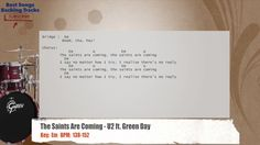 The Saints Are Coming - U2 ft. Green Day Drums Backing Track with chords and lyrics
