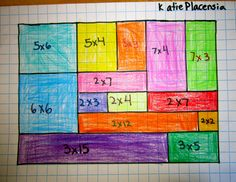 Math / Art Grid Lesson: Good for multiplication and area lessons