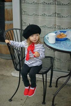 Viva la France! Very sweet costume for a little boy or a girl.