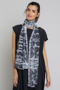 Black and White Large Scarf