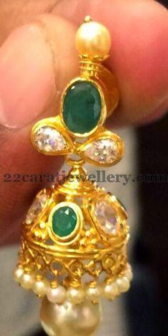 Simple Pearls Chain and Jhumka