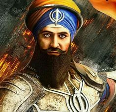 Banda Singh Bahadur, was a Sikh military commander who established a Sikh state with capital at Lohgarh. At age 15 he left home to become an ascetic, and was given the name ''Madho Das' Guru Nanak Ji, Guru Granth Sahib Quotes, Guru Gobind Singh, Architecture Tattoo, Punjabi Couple, Shiva Shakti, Indian Artist, Indian Army, Military Art