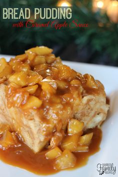 I first tasted this Bread Pudding with Caramel Apple Sauce at a catered Christmas party. It was the first time I had tried Bread Pudding and actually liked it. In fact, I loved it!