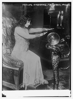 """Pauline Frederick """"Potiphar's Wife""""  Spiritism/illusionism in the late 1800's"""