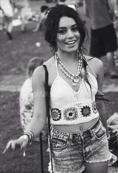 Vanessa Hudgens showing us how it's done at a bohemian festival, bralettes at the ready!