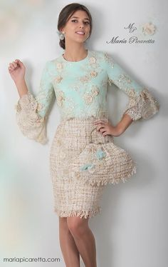 Sleeves design is an important aspect of any clothing's item-such as blouse, top, or dresses we create. Pretty Dresses, Beautiful Dresses, Hijab Fashion, Fashion Dresses, Dress Skirt, Dress Up, Short Dresses, Formal Dresses, Evening Dresses