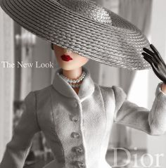 JAMIEshow Gene Marshall ~ in Dior's Bar Suit by Chris Stoeckel ~ Hat by Don Philpott ~ Image and styling by Tom Logan ~ The Glass of Fashion