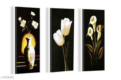 Paintings & Posters Attractive Trendy Wall Posters  Material: MDF  Size- (L X W ): 36 cm X 45 cm Description: It Has 3 Pieces Of Wall Poster Work: Printed Country of Origin: India Sizes Available: Free Size   Catalog Rating: ★4.1 (3962)  Catalog Name: Navratri Multicolor Attractive Trendy Wall Posters Vol 5 CatalogID_622663 C127-SC1611 Code: 981-4339493-792