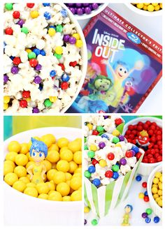 Have an Inside Out Movie Night with this White Chocolate Marshmallow Memory Orb Munch  #InsideOutMovieNight [ad]