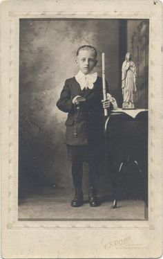 VINTAGE POSTCARD IMAGE OF YOUNG BOY AFTER HIS FIRST COMMUNION. PITTSBURGH PA.  | eBay