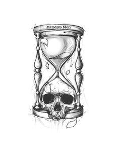 Skull Tattoo Design, Flower Tattoo Designs, Skull Tattoos, Black Tattoos, Body Art Tattoos, Sleeve Tattoos, Tattoo Sketches, Tattoo Drawings, Bright Colors Art