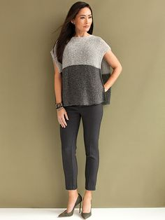 Donna Poncho Knit Pattern