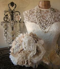 Wedding Bouquet  RESERVED Listing  for Kim  Balance by JasadaBeads, $265.00