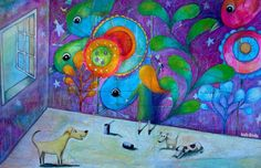 """Analía Heredia Ilustraciones:    """"Cada mañana se elijen los colores, las luces y..."""