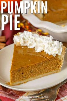 Pumpkin pie is one of our favorite holiday desserts it is so rich and flavorful! Pumpkin pie is one of our favorite holiday desserts it is so rich and flavorful! Pumpkin Pie Cheesecake, Pumpkin Pie Bars, Homemade Pumpkin Pie, Pumpkin Pie Recipes, Pumpkin Dessert, Pumpkin Pies, Thanksgiving Desserts, Holiday Desserts, Thanksgiving 2020