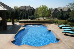 Custom water feature  Aqua Palace Spa & Pool  810 Woodbury Ave  Council Bluffs, Iowa 51503  712-329-4180  www.aquapalace.com
