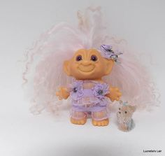 Lavender Shorty Pajama Set for Dam Scandia Troll