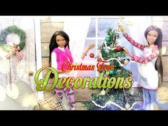 DIY - How to Make: Doll Christmas Tree Decorations- Handmade - Crafts Christmas Tree Farm, Christmas Tree Decorations, Christmas Diy, Merry Christmas, Xmas, Christmas Ornaments, Handmade Headbands, Handmade Crafts, Handmade Rugs