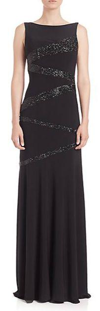 Jovani Zigzag Glitter Gown