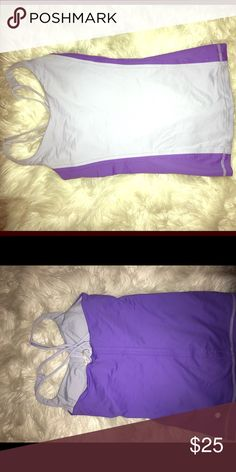 Lulu purple strappy workout top! Lulu purple top ! Sz 4 but will fit a size 2 also!! Worn 4-5 times but great condition !! lululemon athletica Tops