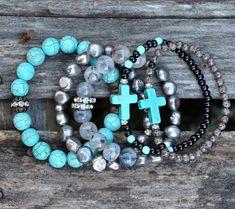 Marcottage pile Beaded Bracelets par BeadRustic  LIVRAISON