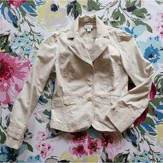 Loft khaki jacket Lightly worn khaki jacket made with 100% cotton LOFT Jackets & Coats Blazers