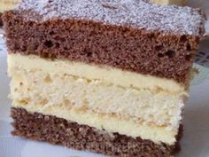 Janka Source by jkpka Polish Desserts, Vanilla Cake, Ale, Recipies, Food And Drink, Sweets, Deserts, Bakken, Essen