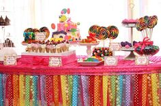 Candyland Birthday Party - this dessert table is very sweet!