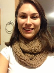 Infinity Scarf - Crochet Pattern. Size K . Alt single and double .. Start with chaining 122
