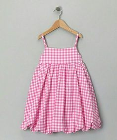 Take a look at this Pink Gingham Bubble Dress - Toddler & Girls by Katie & Co.Likes, 163 Comments - ⤵BThese balloon dresses are so cute, formal or casual. I've got to find a good way to make them and adjust my patterns Frocks For Babies, Baby Girl Frocks, Frocks For Girls, Toddler Girl Dresses, Little Girl Dresses, Girls Dresses, Toddler Girls, Summer Dresses, Kids Frocks Design