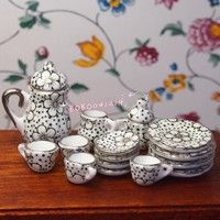 Two Pepper Mills Tableware Kitchen Scene Miniatures for a Doll House