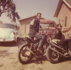 Old pic featuring a Hells Angel from Berdoo. Early/Mid 60s. Check out his pipes. Totally timeless.
