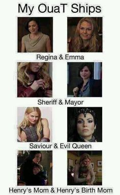 Awesome Regina and Emma awesome Sheriff and Mayor Savior and Evil Queen Henry's Mom and Henry's Birth Mom