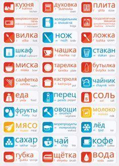 Russian Vocabulary Memorization Stickers
