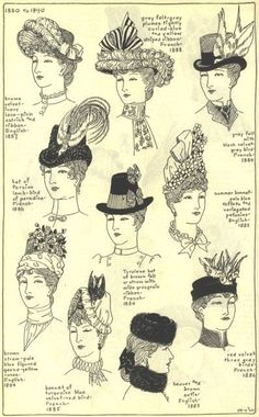 more 1890's women's hats