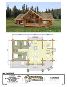 Pioneer – Pioneer Log Homes Midwest Pioneer – Pioneer Log Homes Midwest Get more photo about subject related with by looking at photos gallery at… Log Cabin Floor Plans, Cabin House Plans, Log Home Plans, Log Cabin Homes, New House Plans, Dream House Plans, House Floor Plans, Barn Plans, Log Cabins