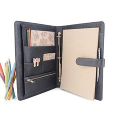 Our deluxe Maison Ring Binder is designed with plenty of storage space for your cell phone, ipad, business cards, presentations,. A4 Ring Binder, Craft Closet Organization, Leather Notepad, Three Ring Binders, Notebook Cover Design, Travel Sketchbook, Leather Folder, Leather Portfolio, Life Planner