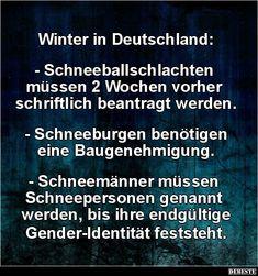 Winter in Deutschland..