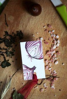 Paper & Card – Mrs Onion – Handmade bookmark – a unique product by virydi_art on DaWanda