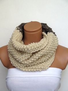 Wool Chunky Knit Cowl Neckwarmer Chunky Cowl by WomanStyleShop