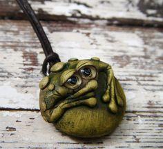 Handmade frog pendant/charm. $12.00, via Etsy.