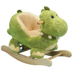 Our Charm Company Dewey Rocking Dinosaur is a perfect children's first rocker. The Charm Company Dewey Rocking Dinosaur has a wood rocker base with non-toxic finish, low to the ground design, soft plush body and padded bucket seat to hold kids securely. Dinosaur Nursery, Dinosaur Toys, Dragon Nursery, Baby Boys, Baby Boy Toys, Toddler Toys, Baby Dinosaurs, Ride On Toys, Baby Boy Nurseries