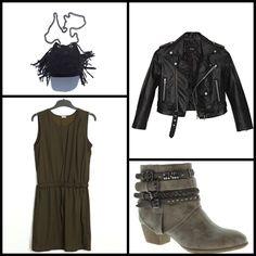 #Bootie cowboy @marypazshoes ~~ Moto Zip Crop #Jacket @nastygal ~~ TOR BLACK #BAG #ilevahc ~~ Print #dress @Pimkie ~~.