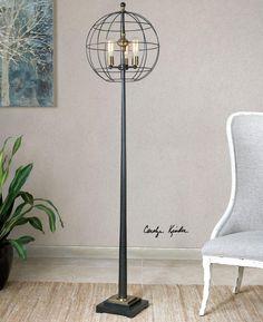 9PULN - Palla Round Cage Floor Lamp