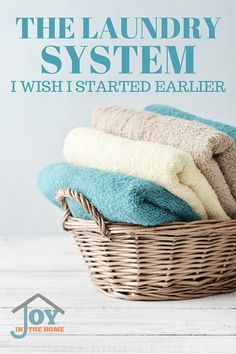 The Laundry System I Wish I Started Earlier - Learn how to make laundry easier with just a few steps. | www.joyinthehome.com