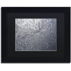 Trademark Fine Art Sunlight Frost Abstract Canvas Art by Kurt Shaffer Black Mat, Black Frame, Size: 16 x 20