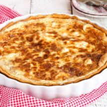 Quiche au fromage sans œufs sur Recettes.net